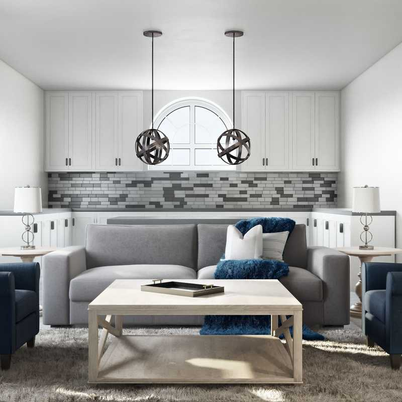 Classic, Eclectic, Glam, Traditional Living Room Design by Havenly Interior Designer Cassie