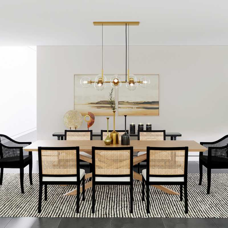 Modern, Minimal Dining Room Design by Havenly Interior Designer Ghianella