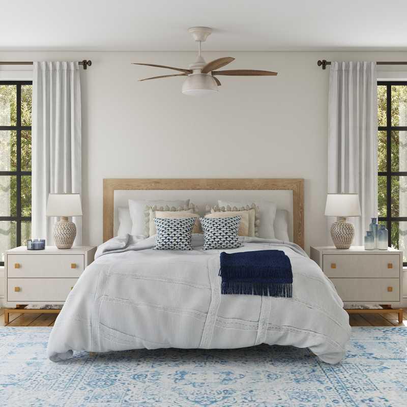 Modern, Coastal, Scandinavian Bedroom Design by Havenly Interior Designer Laura