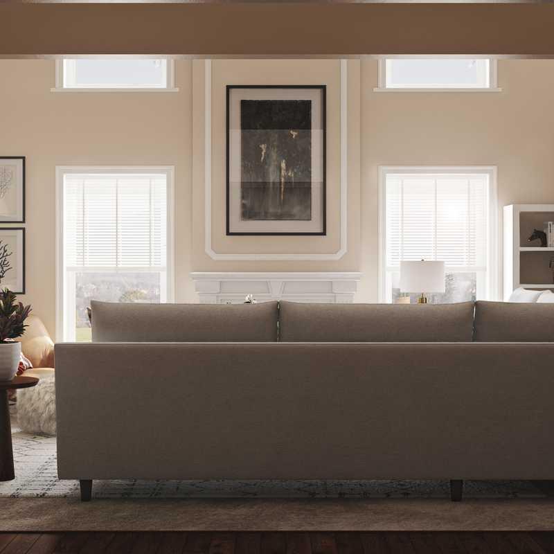 Industrial, Rustic, Midcentury Modern, Scandinavian Living Room Design by Havenly Interior Designer Tessa