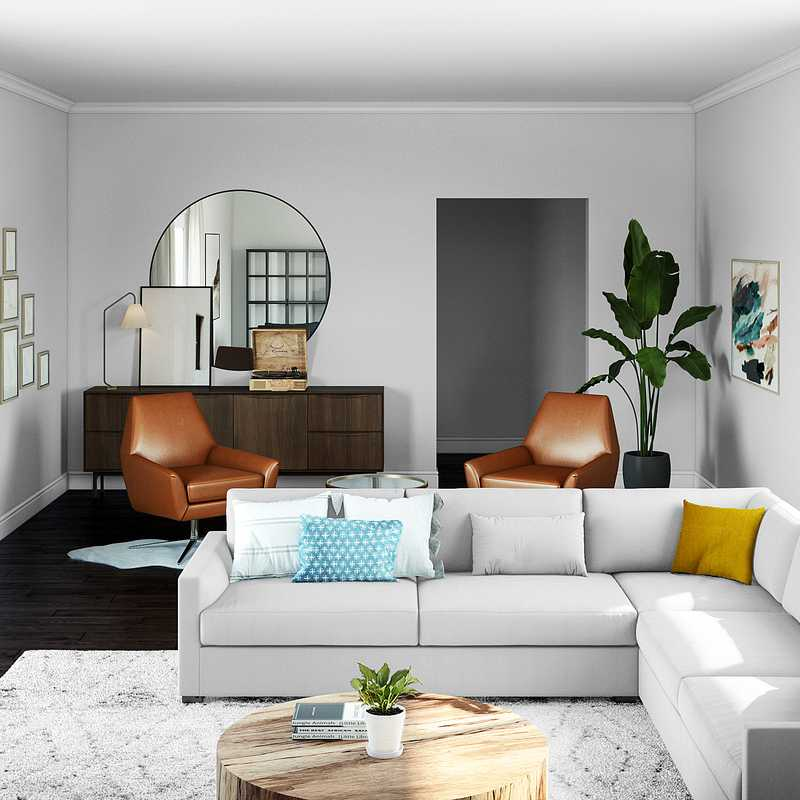 Classic, Eclectic Living Room Design by Havenly Interior Designer Natalie