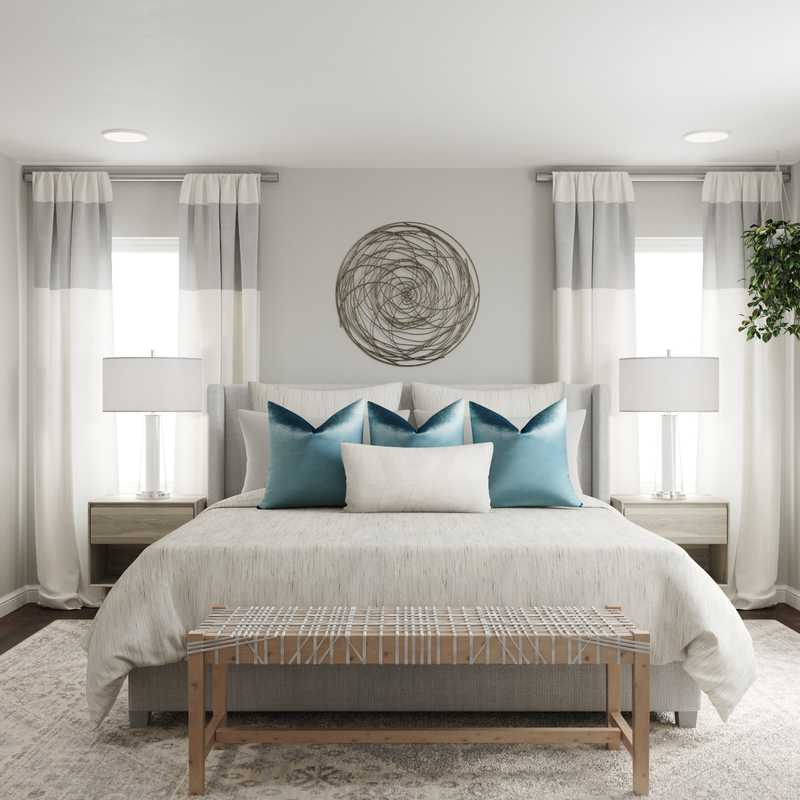 Contemporary, Coastal Bedroom Design by Havenly Interior Designer Fendy