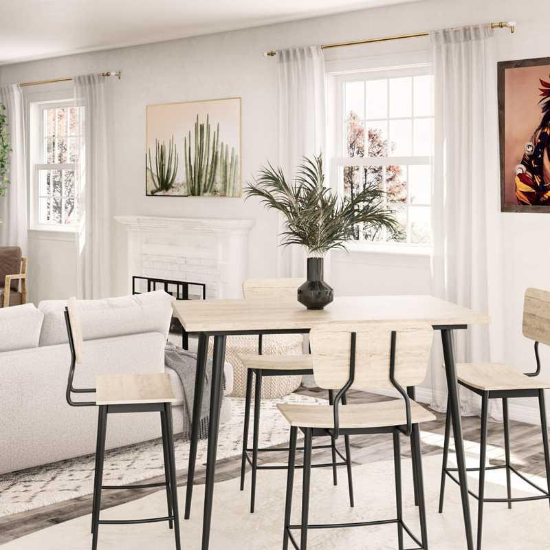 Bohemian, Scandinavian Living Room Design by Havenly Interior Designer Sarah