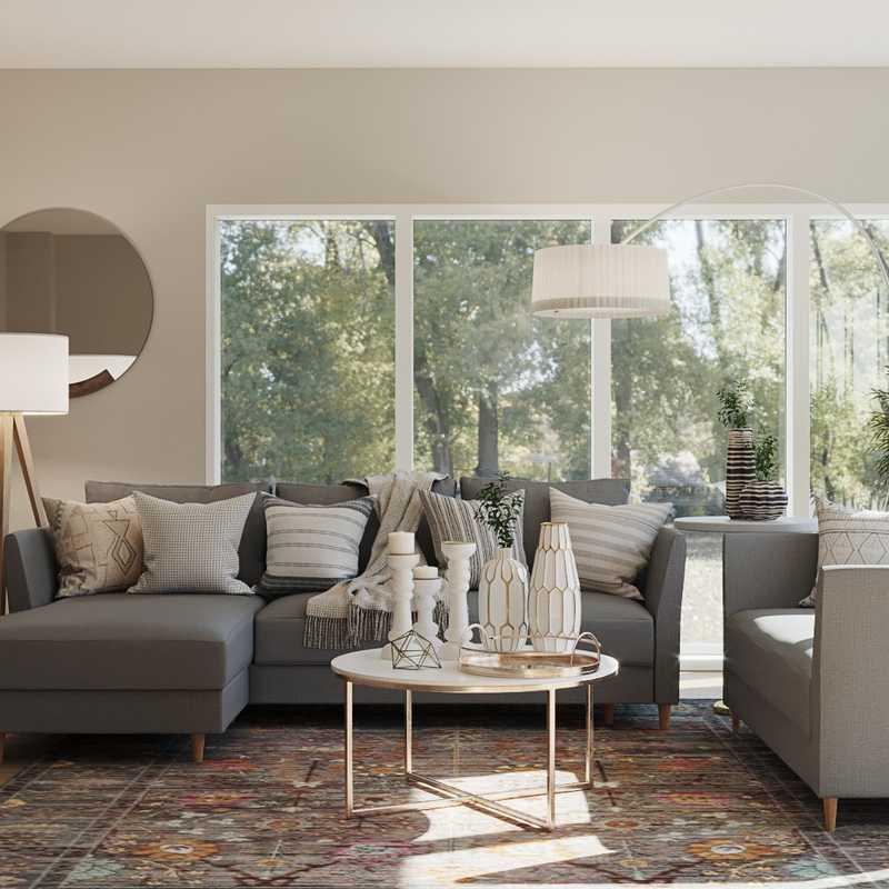 Modern, Scandinavian Living Room Design by Havenly Interior Designer Olivia