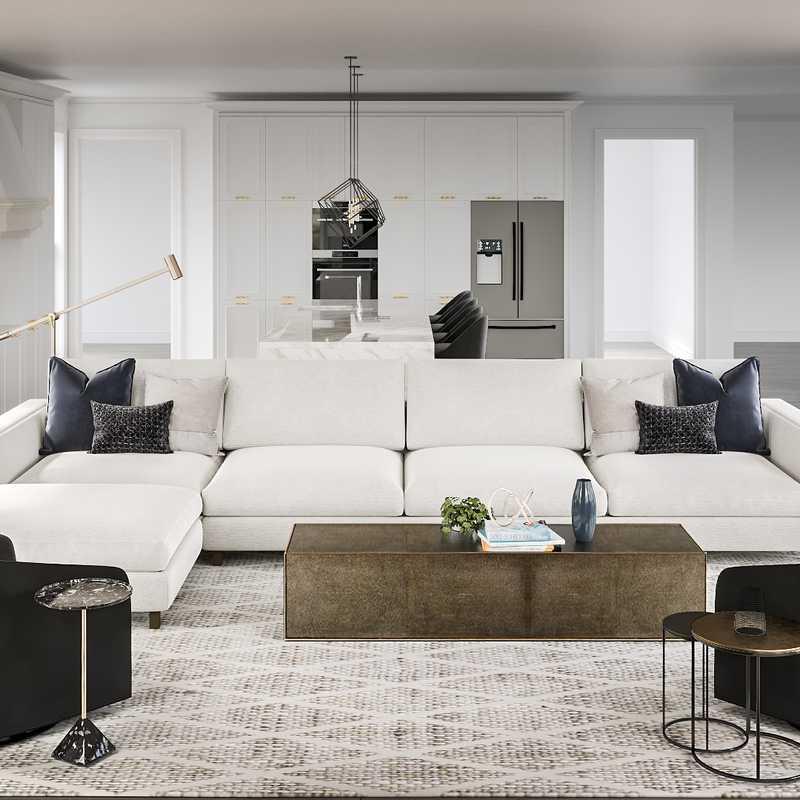 Minimal Living Room Design by Havenly Interior Designer Karen