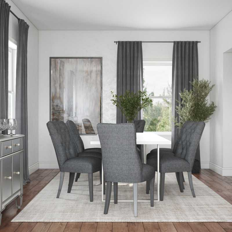 Contemporary, Modern, Glam Dining Room Design by Havenly Interior Designer Marisa
