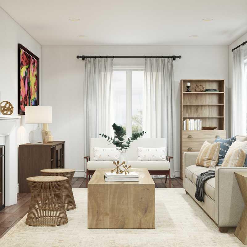 Contemporary, Bohemian, Coastal Living Room Design by Havenly Interior Designer Melisa