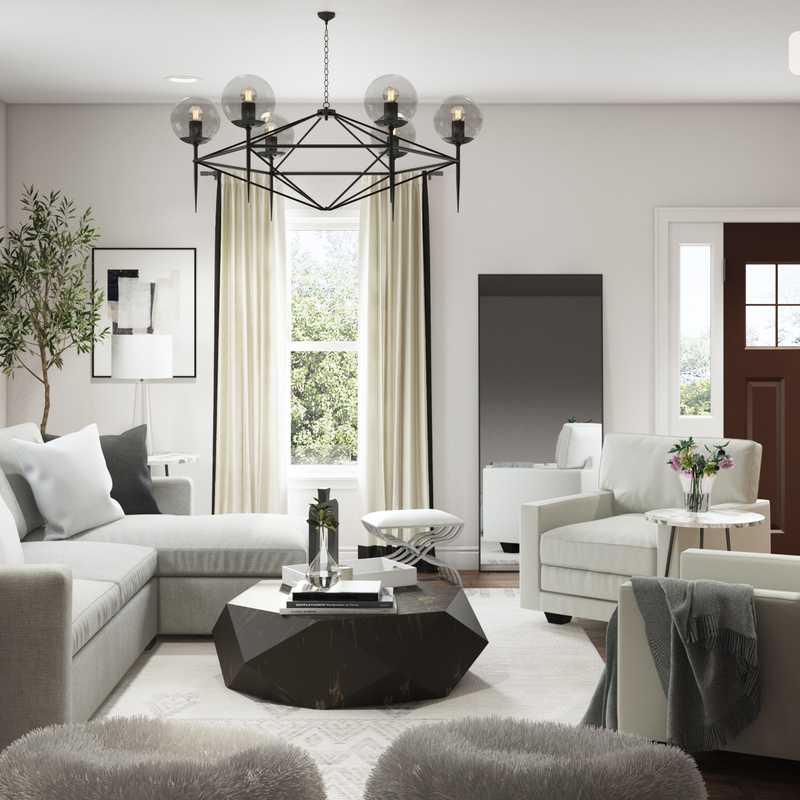 Modern, Glam Living Room Design by Havenly Interior Designer Lindsay