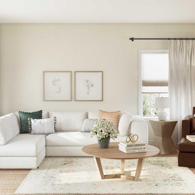 Contemporary, Coastal Living Room Design by Havenly Interior Designer Micah