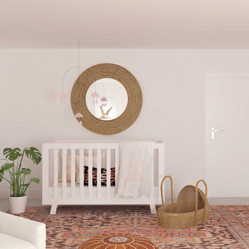 Eclectic, Bohemian Nursery Design by Havenly Interior Designer Sarah