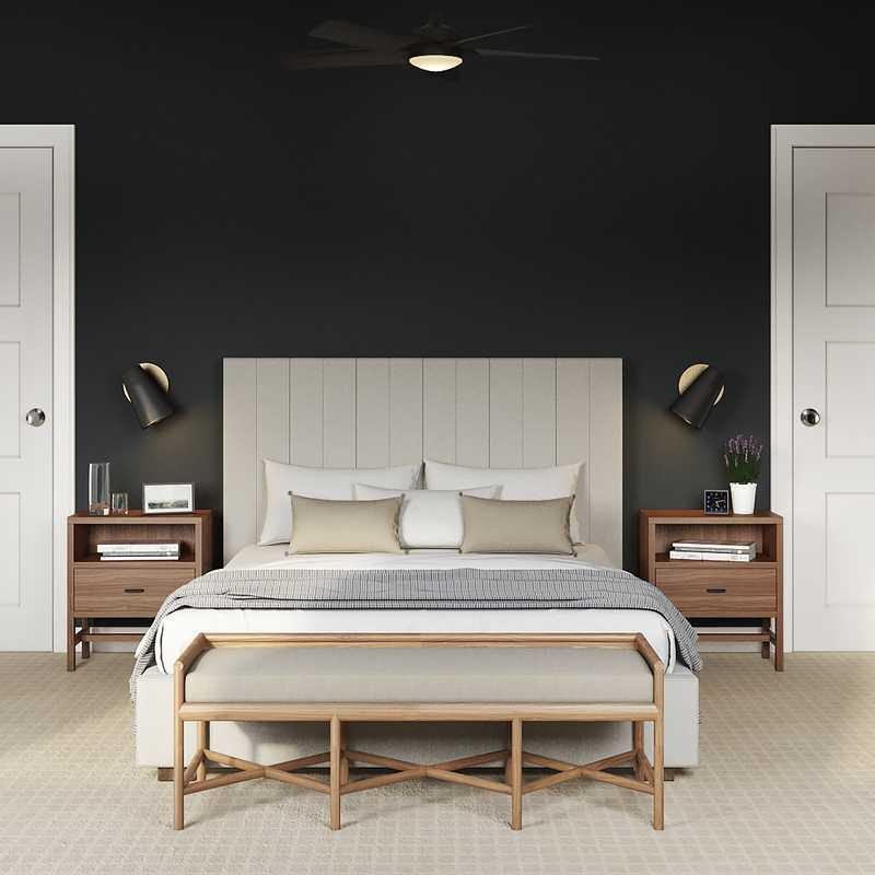 Eclectic Bedroom Design by Havenly Interior Designer Nichole