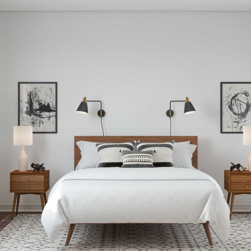 Modern, Industrial, Minimal, Scandinavian Bedroom Design by Havenly Interior Designer Heather