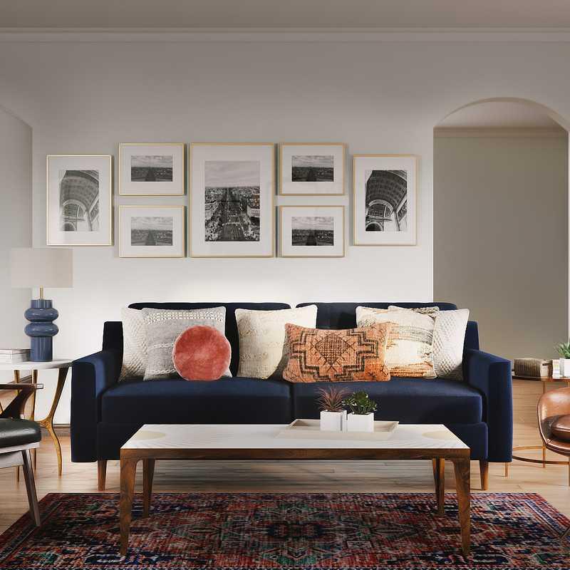 Classic, Traditional Living Room Design by Havenly Interior Designer Teresa