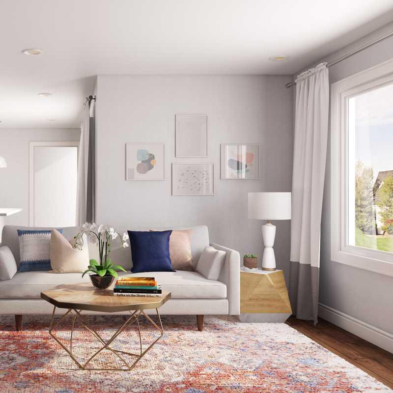 Modern, Eclectic Living Room Design by Havenly Interior Designer Rachel
