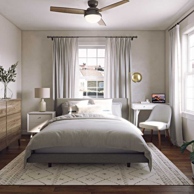 Midcentury Modern, Scandinavian Bedroom Design by Havenly Interior Designer Jodi