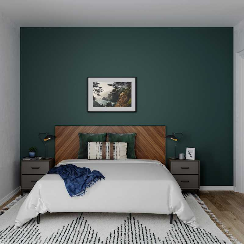 Contemporary Bedroom Design by Havenly Interior Designer Kelly