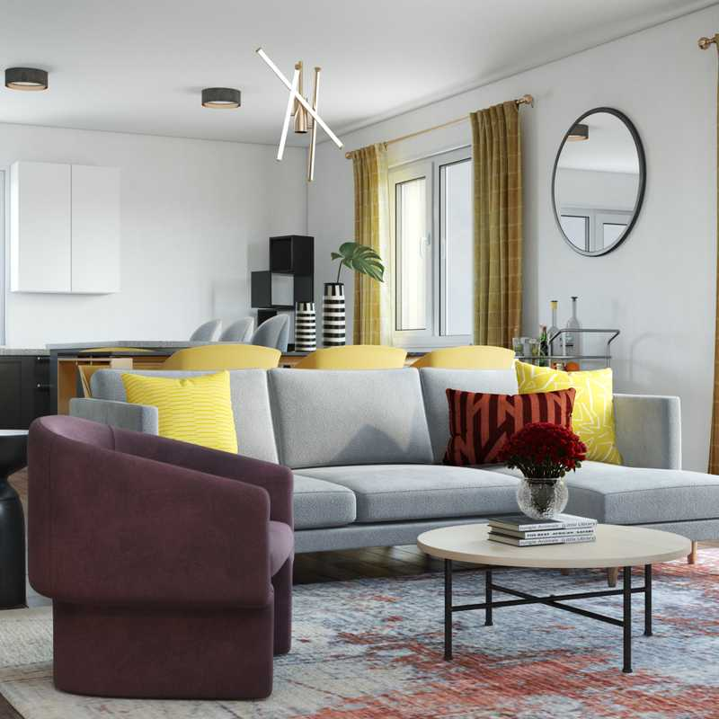 Modern, Minimal, Scandinavian Living Room Design by Havenly Interior Designer Abi