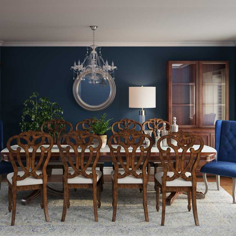 Classic, Glam, Traditional Dining Room Design by Havenly Interior Designer Hayley