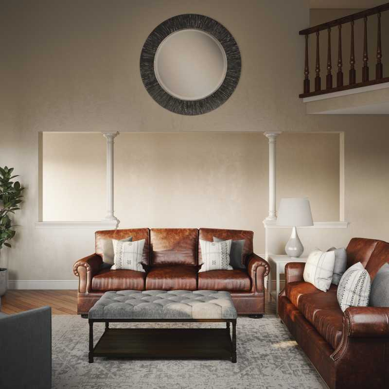 Classic, Transitional Living Room Design by Havenly Interior Designer Jonica
