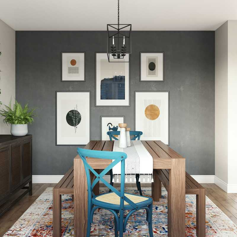 Modern, Eclectic, Bohemian, Midcentury Modern Other Design by Havenly Interior Designer Crystal