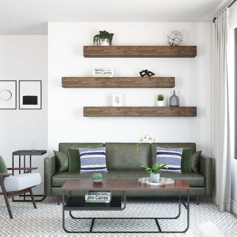 Modern, Midcentury Modern Living Room Design by Havenly Interior Designer Sofia