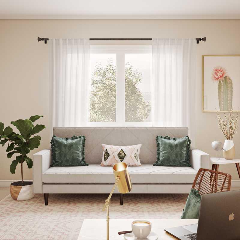 Bohemian, Coastal Office Design by Havenly Interior Designer Carolyn