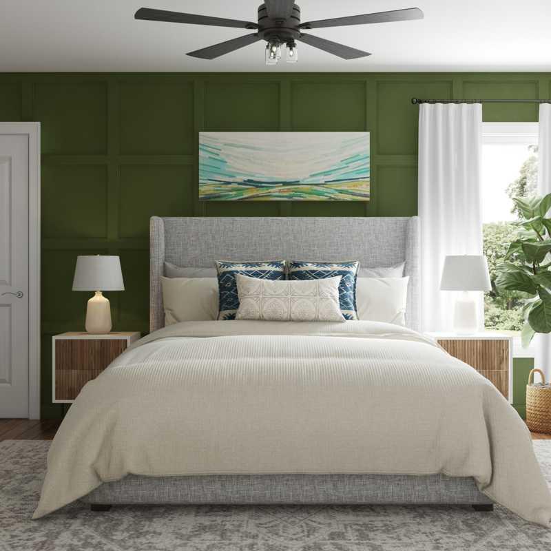 Eclectic, Bohemian Bedroom Design by Havenly Interior Designer Isabella