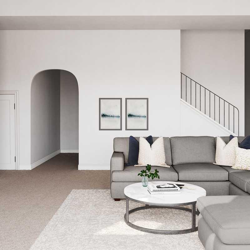 Transitional Living Room Design by Havenly Interior Designer Rachel