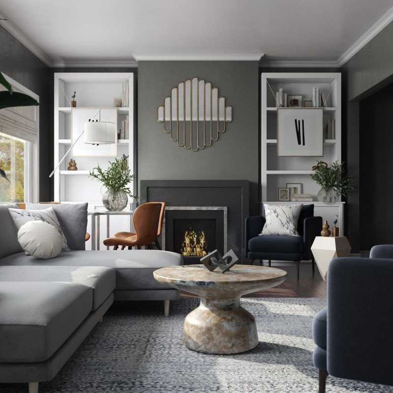 Modern, Eclectic, Bohemian Living Room Design by Havenly Interior Designer Carlie
