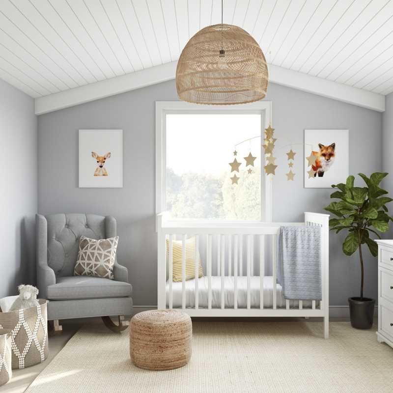 Modern, Bohemian Nursery Design by Havenly Interior Designer Madison