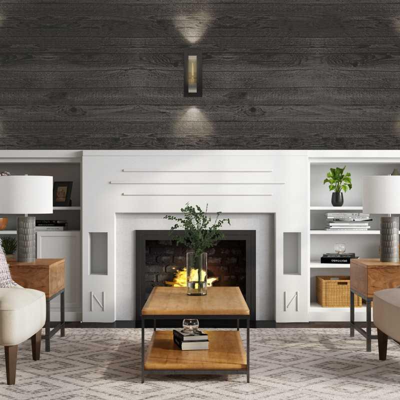 Rustic Living Room Design by Havenly Interior Designer Mariel