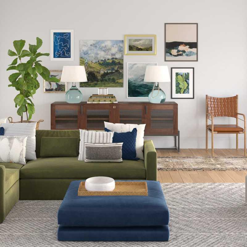Eclectic Living Room Design by Havenly Interior Designer Natalie
