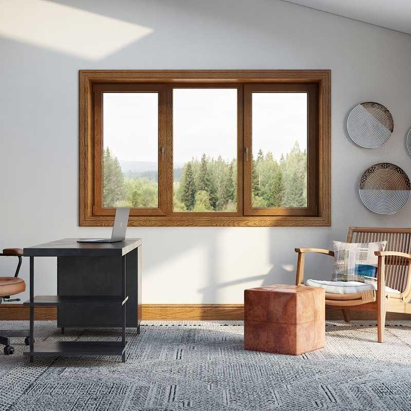 Modern, Midcentury Modern Office Design by Havenly Interior Designer Leah