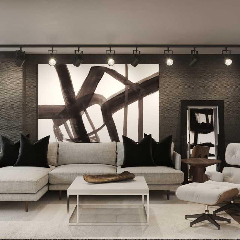 Contemporary, Modern, Minimal Living Room Design by Havenly Interior Designer Julio