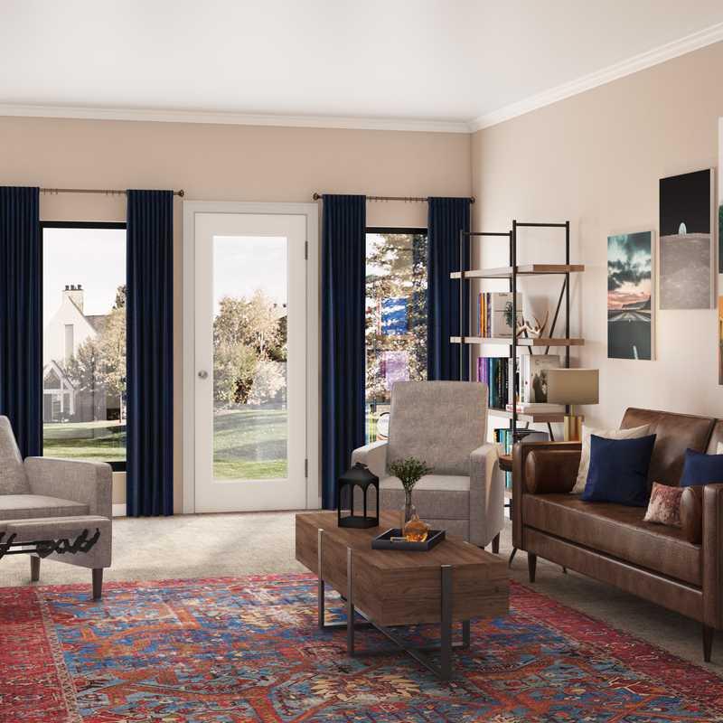 Industrial, Traditional, Rustic Living Room Design by Havenly Interior Designer Sydney