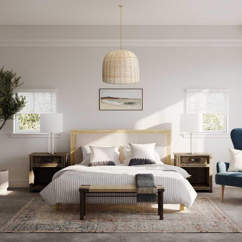 Coastal, Transitional Bedroom Design by Havenly Interior Designer Astrid