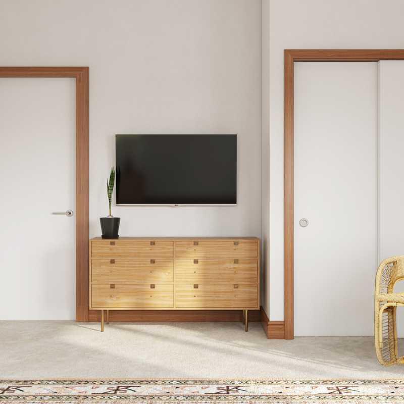 Modern, Bohemian, Midcentury Modern Bedroom Design by Havenly Interior Designer Leah