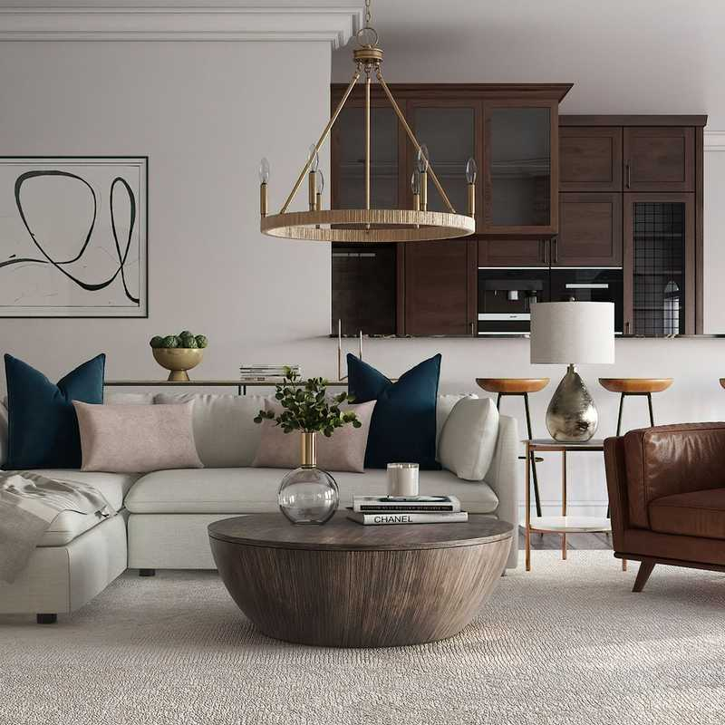 Modern, Eclectic, Bohemian Living Room Design by Havenly Interior Designer Lilly