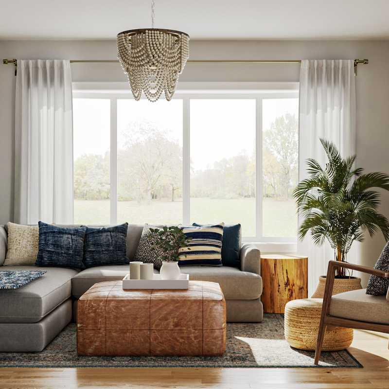Coastal, Farmhouse, Scandinavian Living Room Design by Havenly Interior Designer Ghianella