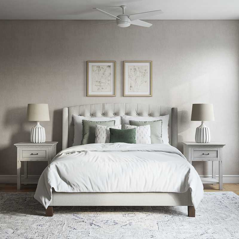 Eclectic, Transitional Bedroom Design by Havenly Interior Designer Brianna
