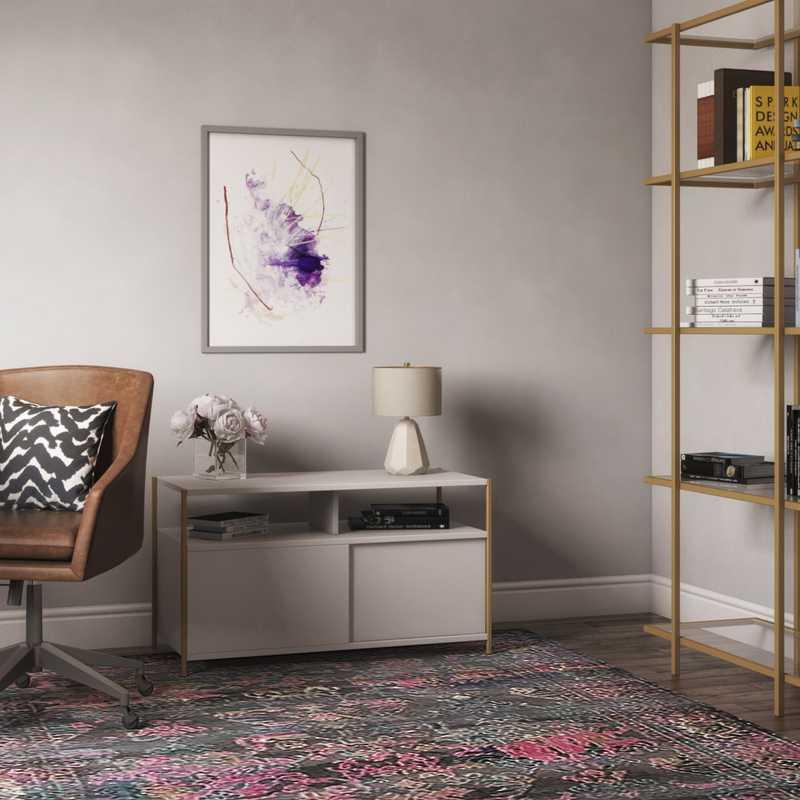 Contemporary, Modern, Glam Office Design by Havenly Interior Designer Anna