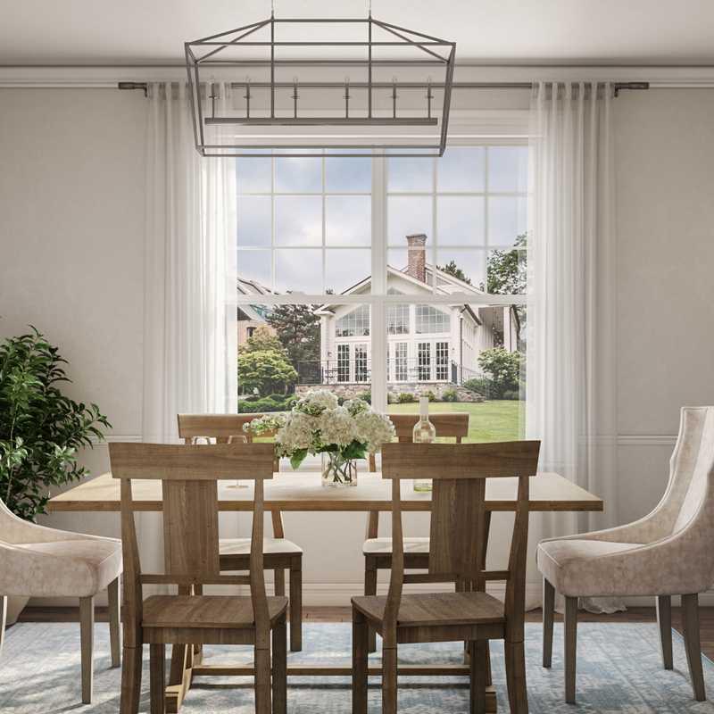Farmhouse Dining Room Design by Havenly Interior Designer James