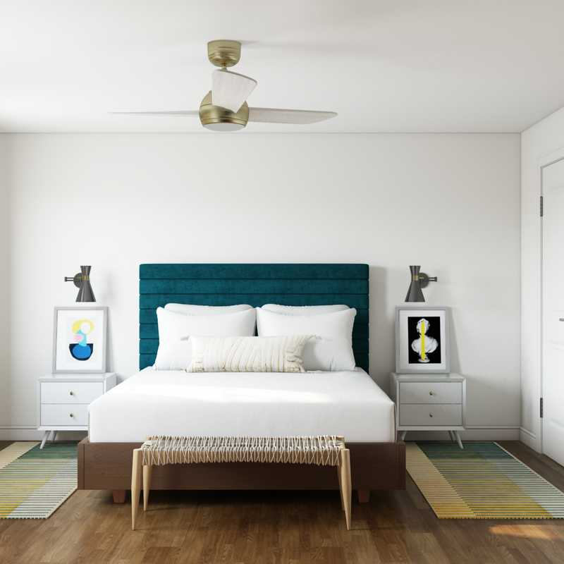Modern, Eclectic, Bohemian Bedroom Design by Havenly Interior Designer Emelia