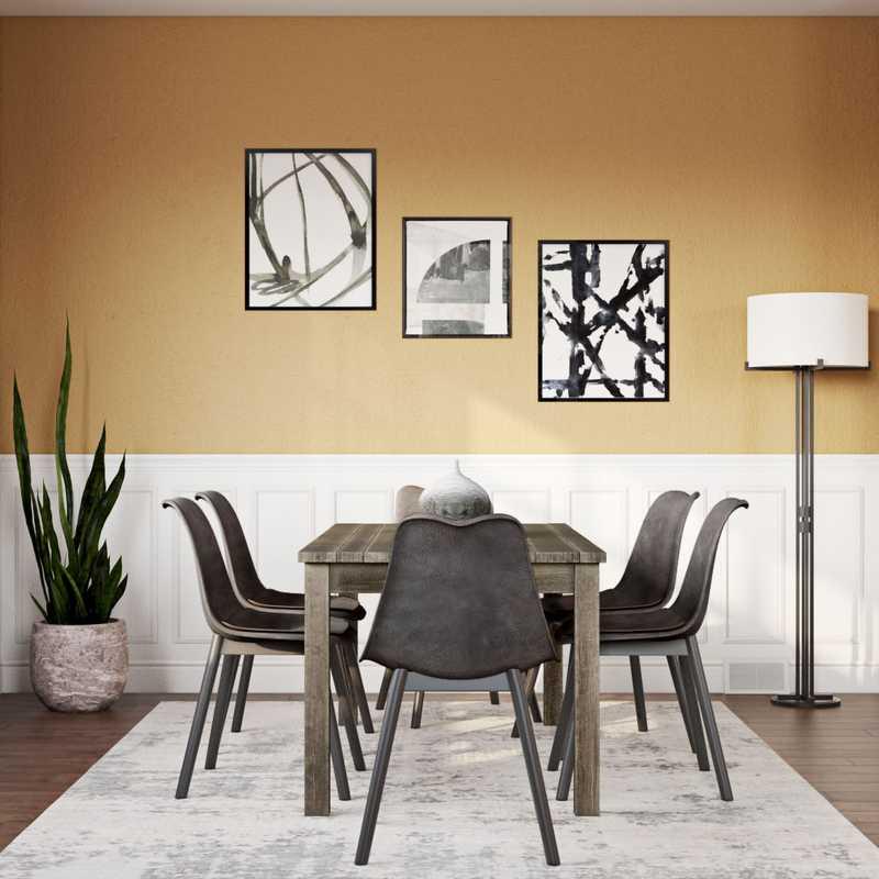 Modern, Industrial Dining Room Design by Havenly Interior Designer Shaina