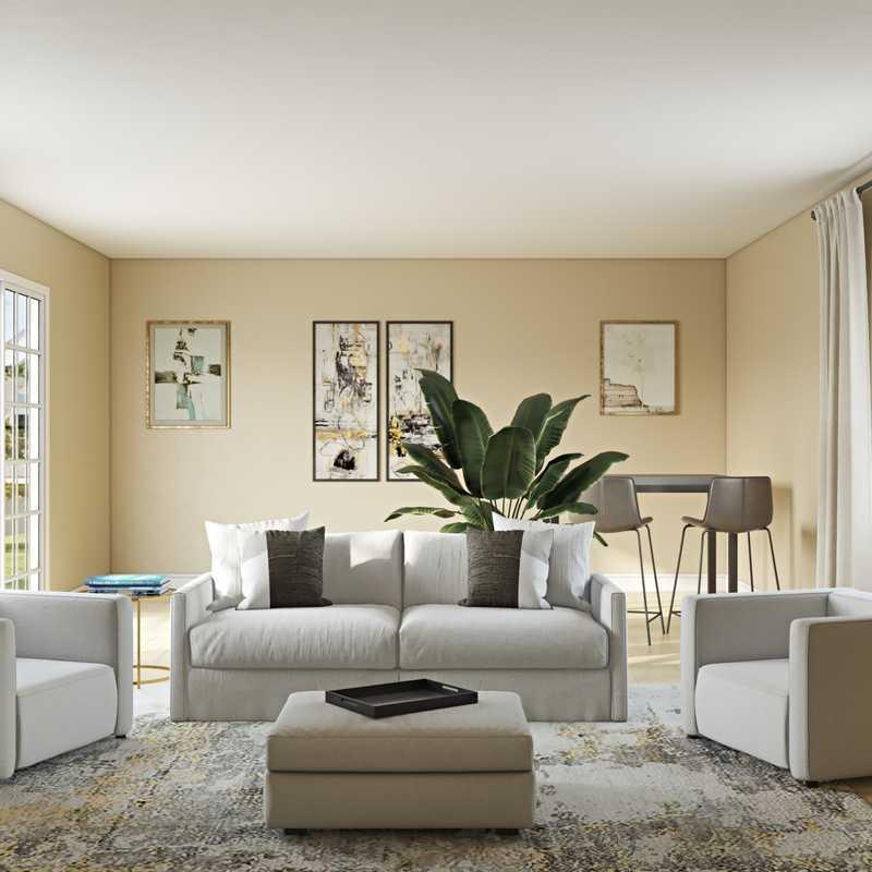 Modern, Glam Living Room Design by Havenly Interior Designer Katie