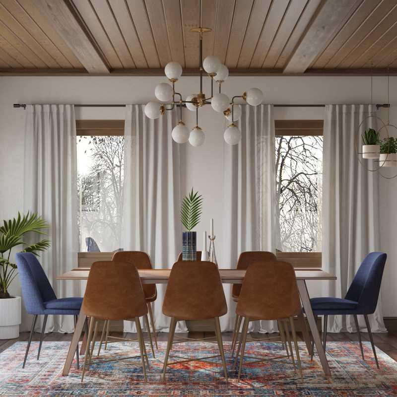 Midcentury Modern, Scandinavian Dining Room Design by Havenly Interior Designer Janice