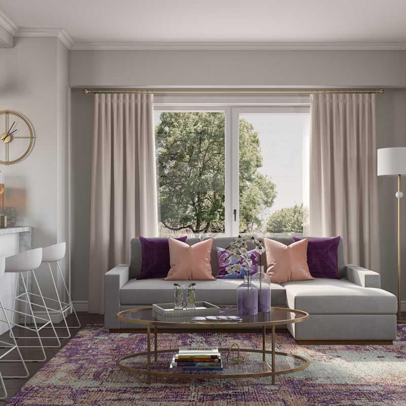 Contemporary, Midcentury Modern Living Room Design by Havenly Interior Designer Hagar