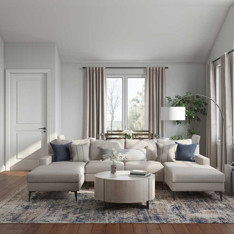 Transitional Living Room Design by Havenly Interior Designer Kelcy