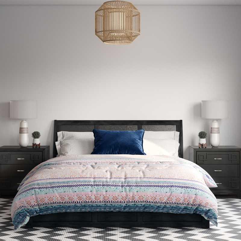 Bohemian, Global Bedroom Design by Havenly Interior Designer Kylie