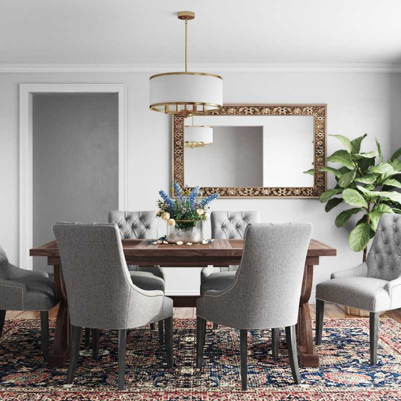 Classic, Traditional, Transitional Dining Room Design by Havenly Interior Designer Rachel